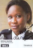 Nicola Alexis as PC Ruby Buxton in ITV The Bill Hand Signed Cast Card Photo