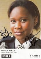Nicola Alexis as PC Ruby Buxton ITV The Bill Hand Signed Cast Card Photo