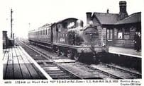 Noel Park Pal Gates 1933 London Push Pull Station Train Railway Photo Postcard
