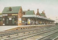 Nottingham Trent Station Suttons Seeds Pears Soap Advertising Poster Postcard