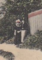 Odd Couple Hiding By Bushes at Streatley Hills Entrance Berkshire Old Postcard