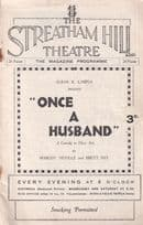 Once A Husband Fay Compton Cyril Maude Comedy Old Theatre Programme
