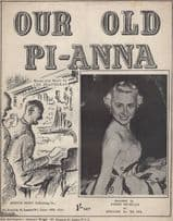 Our Old Pi-Anna Penny Nicholls Worn 1940s Sheet Music