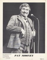 Pat Mooney Comedian 1970s Management Company Giant Hand Signed Photo