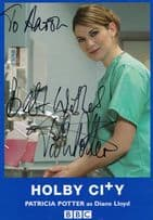 Patricia Potter Diane Lloyd Holby City BBC Rare Hand Signed Photo Cast Card