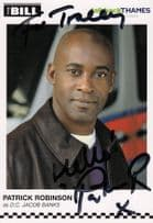 Patrick Robinson as DC Jacob Banks The Bill Hand Signed Cast Card Photo