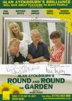 Paul Bown Carol Royle Hannah Waterman Alan Ayckbourn Hand Signed Theatre Flyer