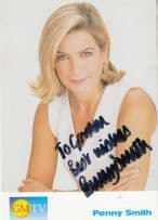 Penny Smith GMTV Morning Television Cast Card Hand Signed Photo