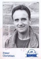 Peter Christian Hand Signed Brookside Cast Card Photo