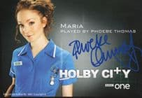 Phoebe Thomas as Maria Holby City Hand Signed Cast Card Photo