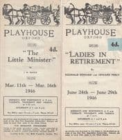 Playhouse Oxford Two Antique 1940s Theatre Programme s
