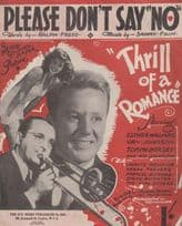 Please Dont Say No Esther Williams 1940s Sheet Music