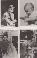 Prince Charles as Baby & Child Growing Up 4x Vintage Mint Tucks Postcard s