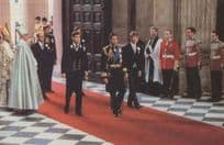 Prince Charles Bridegroom Entering Cathedral Wedding Royal Souvenir Postcard