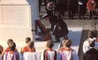 Prince Charles Lays A Wreath At Cenotaph Royalty Postcard