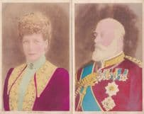 Queen Mary & King George 2x Royalty Antique Painting Postcard s