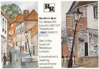 Readers Rest Lincolnshire Secondhand Bookshop Book Store Advertising Postcard