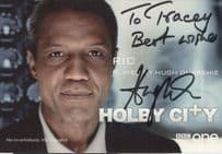 Ric Quarshie Holby City Hand Signed Cast Card Photo