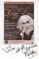 Roy Dotrice Game Of Thrones Hand Signed Large Autograph Theatre Flyer