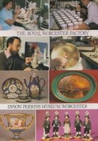 Royal Worcester Factory Museum The Dyson Perrins 2x Craft Mint Worcs Postcard s