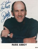 Russ Abbot Large Hand Signed Photo