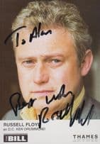 Russell Floyd as DC Ken Drummond ITV The Bill Hand Signed Cast Card Photo