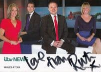 Ruth Wignall ITV News Wales At Six Newsreader Hand Signed Cast Card Photo