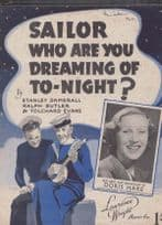 Sailor Who Are You Dreaming Of Tonight Doris Hare 1940s Sheet Music
