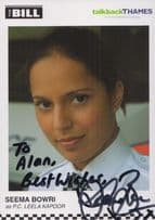 Seema Bowri PC Leela Kapoor ITV The Bill Hand Signed Cast Card Photo