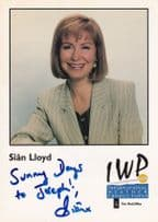 Sian Lloyd Weather Presenter Weathergirl Hand Signed IWP Cast Card Photo