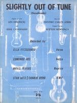 Slightly Out Of Tune Sten Getz 1960s Sheet Music