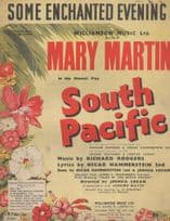 Some Enchanted Evening South Pacific 1950s Sheet Music