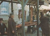 Stamford & Middlemarch Butchers Market Stall BBC TV Lincolnshire Postcard