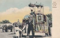 State Elephant of Gaikwar India Antique Indian Postcard