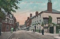 Style Value Variety Sign Church Street Oswestry Shropshire Antique Postcard