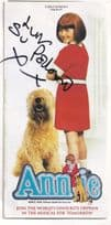Su Pollard in Annie The Musical Hi De Hi Hand Signed Theatre Flyer