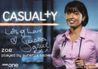 Sunetra Sarker as Zoe BBC Casualty Hand Signed Cast Card Photo