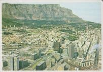 Table Mountain Cape Town South African Aerial Postcard
