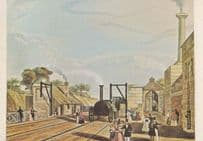 Taking Water Parkside Station Liverpool Manchester Train Rail Railway  Postcard