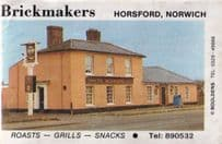 The Brickmakers Horsford Norwich Norfolk Pub Old Matchbox Label