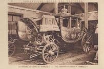 The Coronation Coach Of Charles X 10 Antique Royal Transport Carriage Postcard