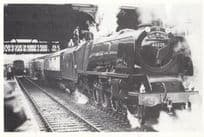 The Duchess 46229 at Manchester Victoria Station in 1980 Railway Postcard