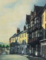 The Feathers Bull Ring Birmingham Painting Postcard