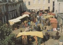 The Grocers Market Stalls Middlemarch BBC TV Show Stamford Lincolnshire Postcard