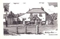 The Kings Head Holmbury St. Mary Surrey Old Postcard