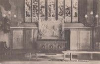 The Reredos St Peters Church Nottingham Antique Interior Postcard