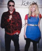 The Ting Tings Indie Pop Group 10x8 Hand Signed Photo