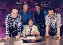 They  Think Its All Over Nick Hancock Full TV Cast Official Printed Signed Photo