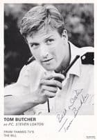 Tom Butcher PC Steven Loxton ITV The Bill Hand Signed Cast Card Photo