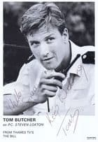 Tom Butcher PC Steven Lozton in The Bill Vintage Hand Signed Cast Card Photo